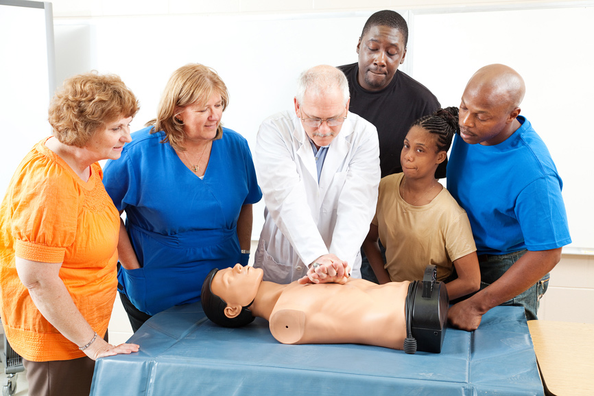 Instructor Teaching CPR Class
